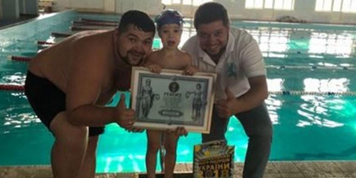 Маленькая девочка установила рекорд в Одессе