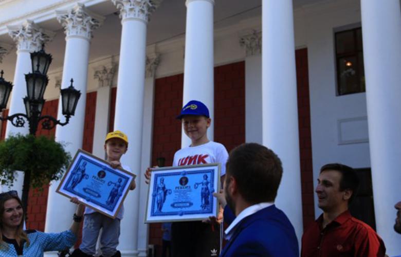 Два юных одессита установили новый рекорд Украины