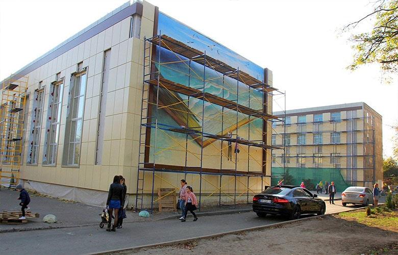 Два мурала будут украшать Фасад одесской школы №81
