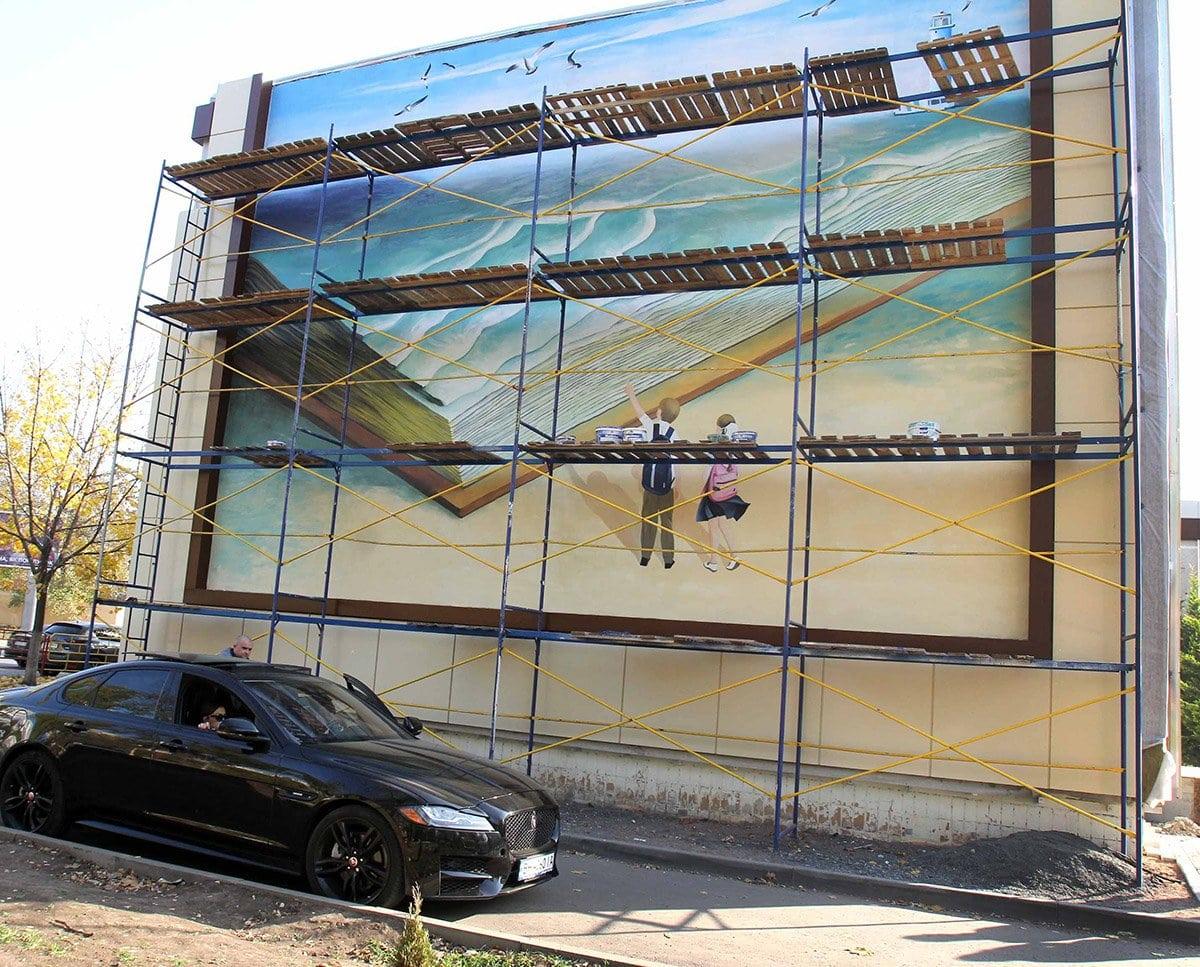 Два мурала будут украшать Фасад одесской школы