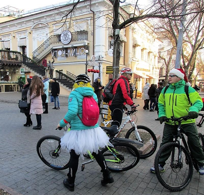 Предновогодний велопробег в Одессе