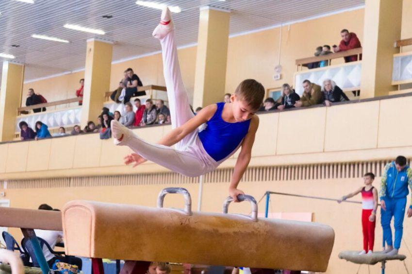 Юные одесские гимнасты