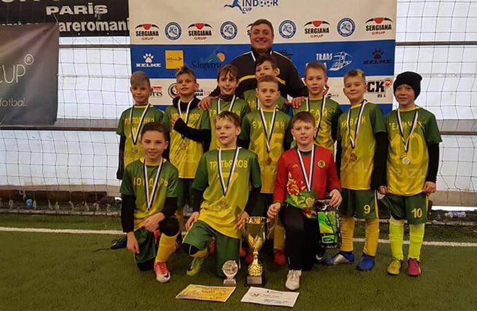 Юные футболисты завоевали золото на Международном турнире
