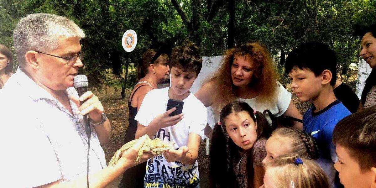 Одесский зоопарк показал своих питомцев на фестивале Зеленая волна