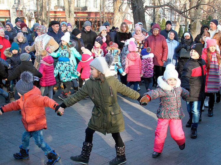 Рождественский фестиваль в одесском Горсаду